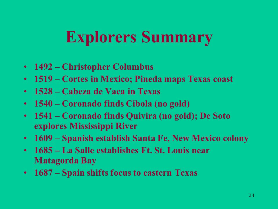 First Steps In A New Land Ppt Download - Map of us explorers coronado la salle