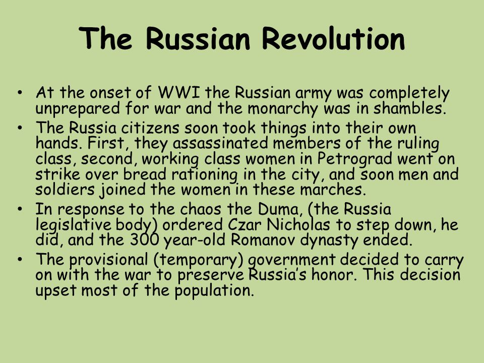 an analysis of the russian revolution at the start of 20th century This was not the first revolution it had seen in the 20th century on one another to provide a complex analysis the russian revolution of 1917 fit.