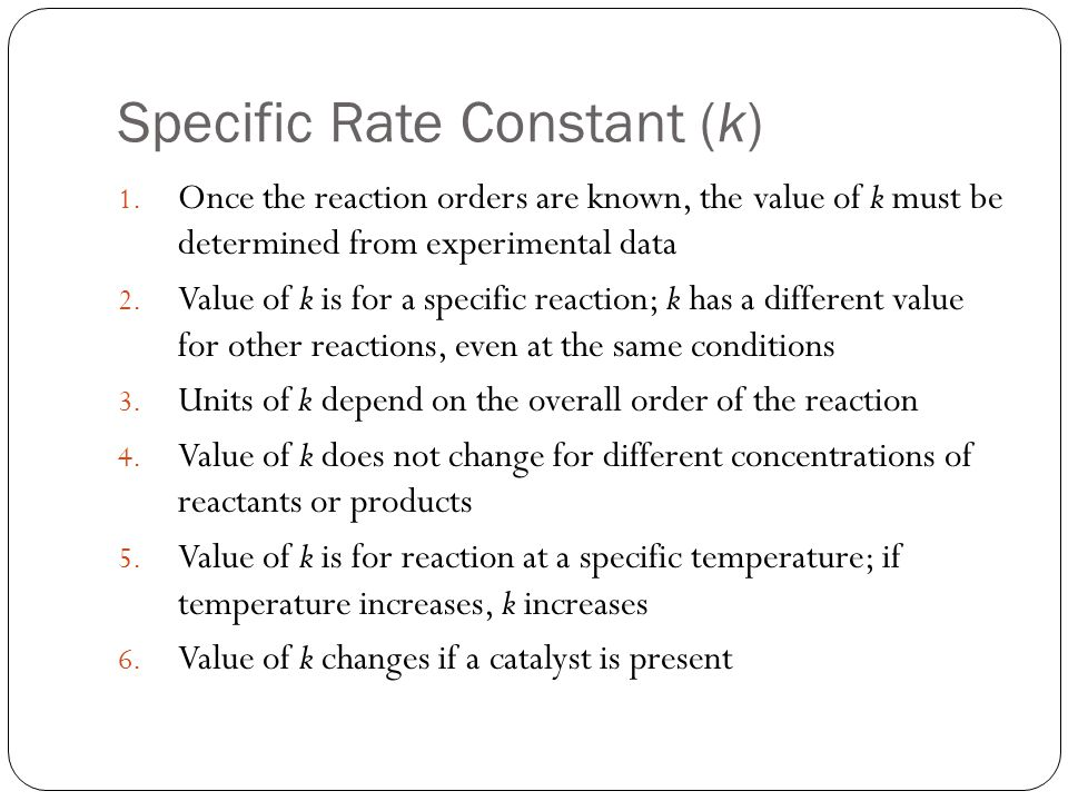 an experiment to determine the reaction for a specific rate law Experimental determination of rate laws our goals is to determine the rate law for experiment one, the initial rate of reaction was one point two five times.