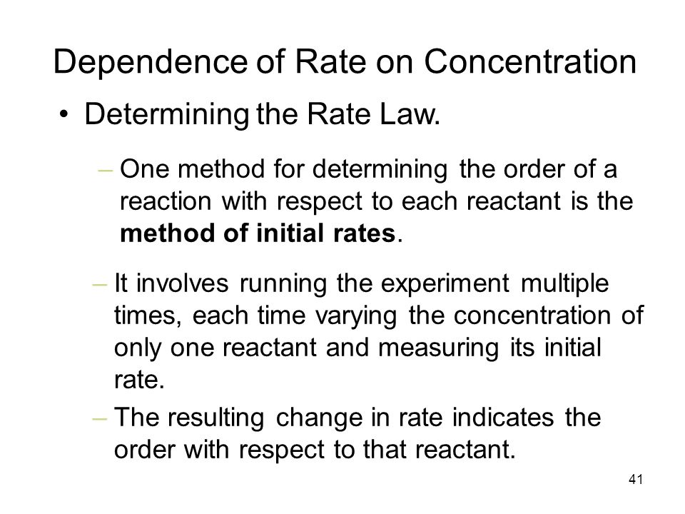 effect of changing concentration on the order of reaction One example of this effect is the reaction of sucrose (table sugar) with sulfuric acid, which is shown in figure 141 the effect of concentration on reaction rates figure 141 the effect of concentration on reaction rates.