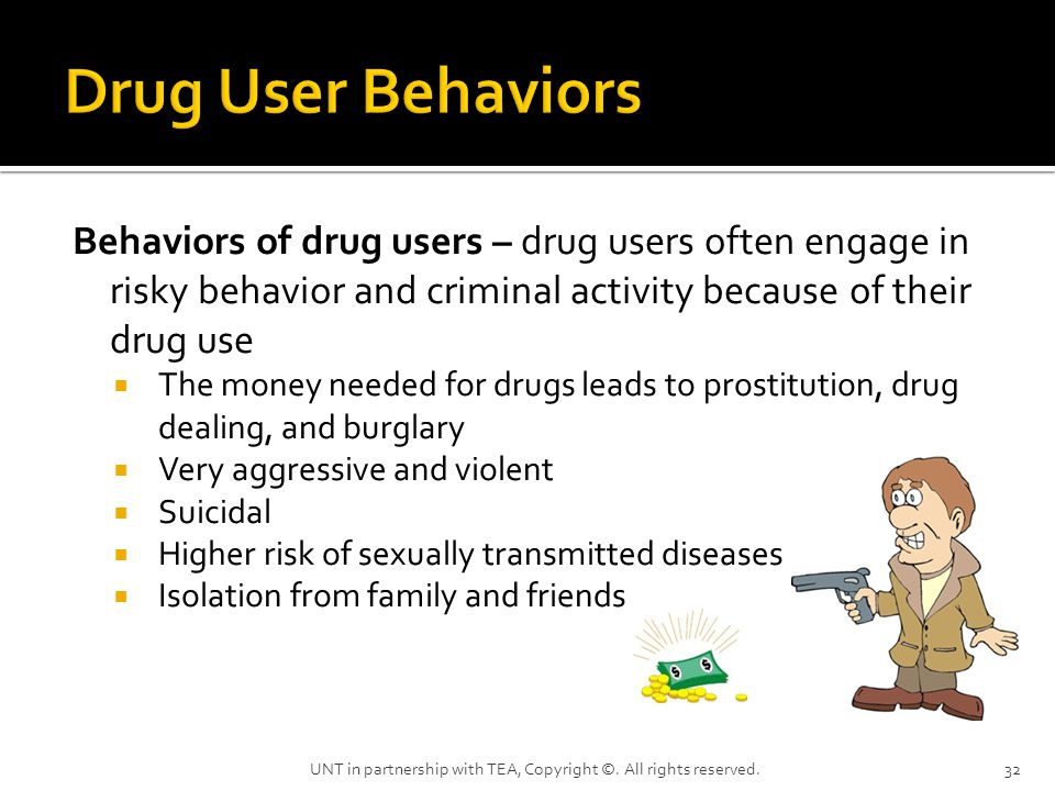 The money needed for drugs leads to prostitution, drug dealing, and ...
