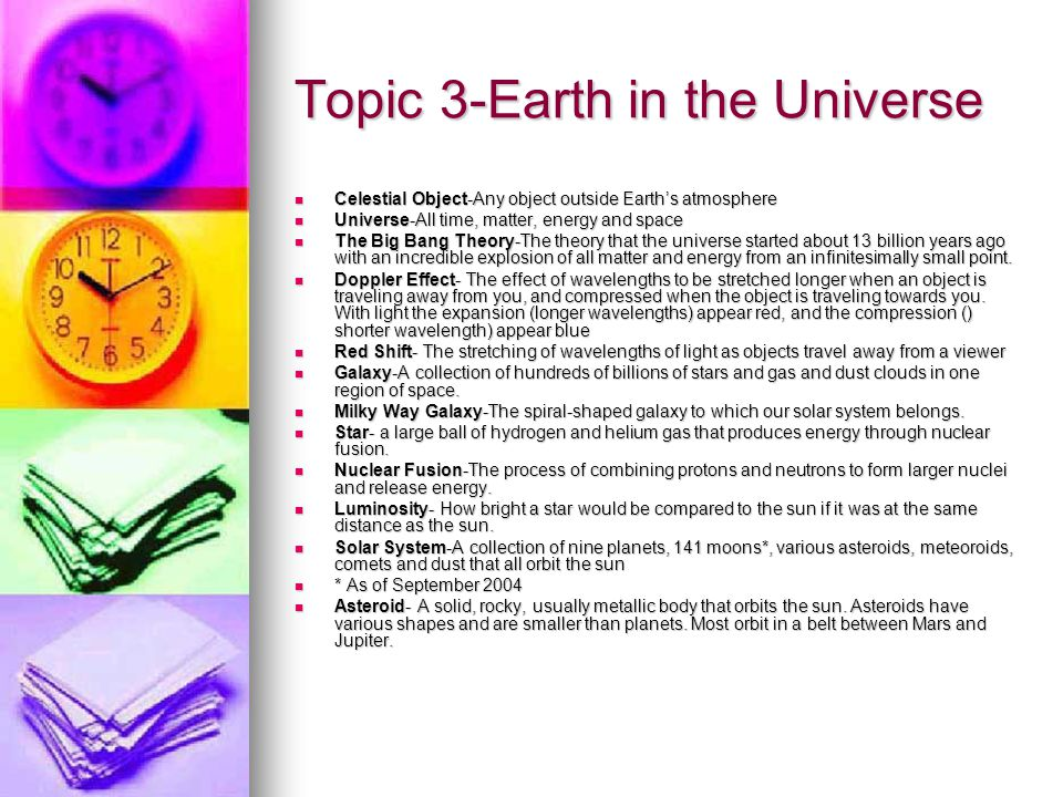 Topic 3-Earth in the Universe
