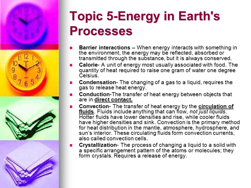 Topic 5-Energy in Earth s Processes
