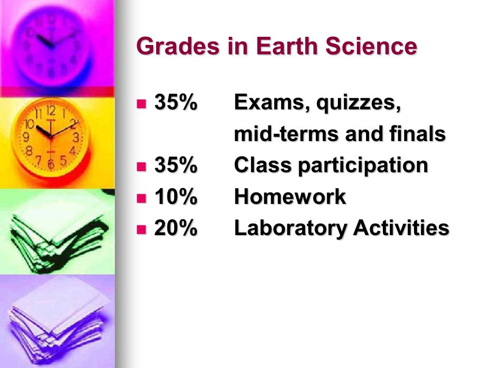 Grades in Earth Science