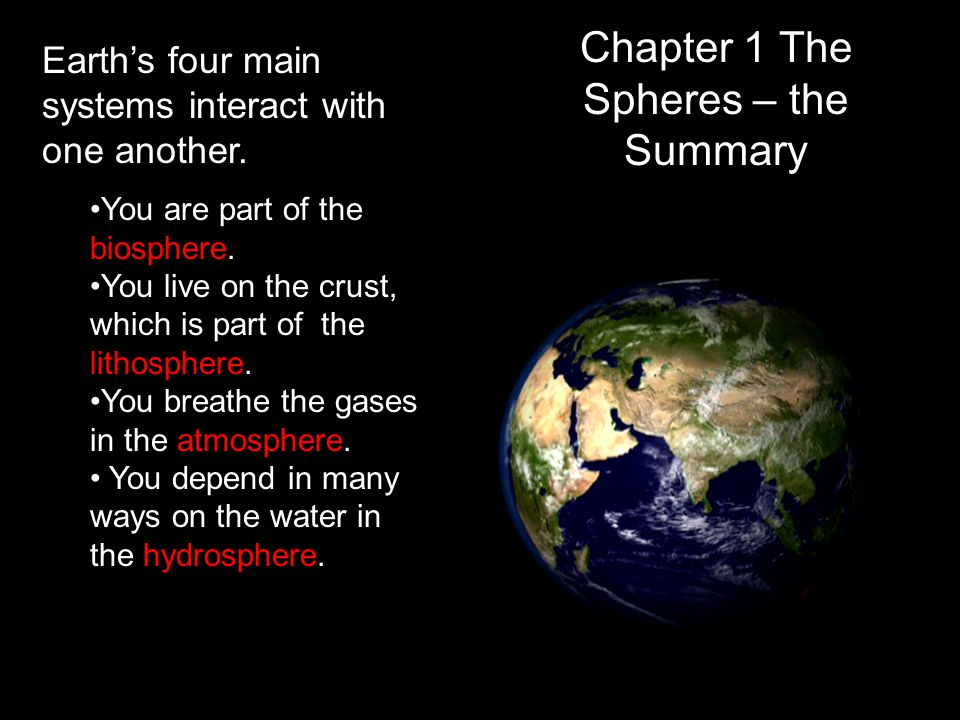 Chapter 1 The Spheres – the Summary