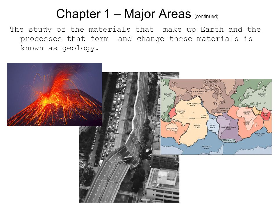 Chapter 1 – Major Areas (continued)