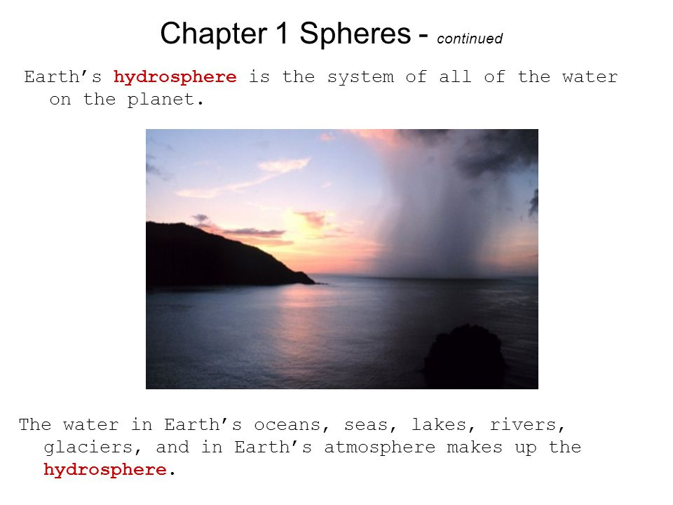 Chapter 1 Spheres - continued