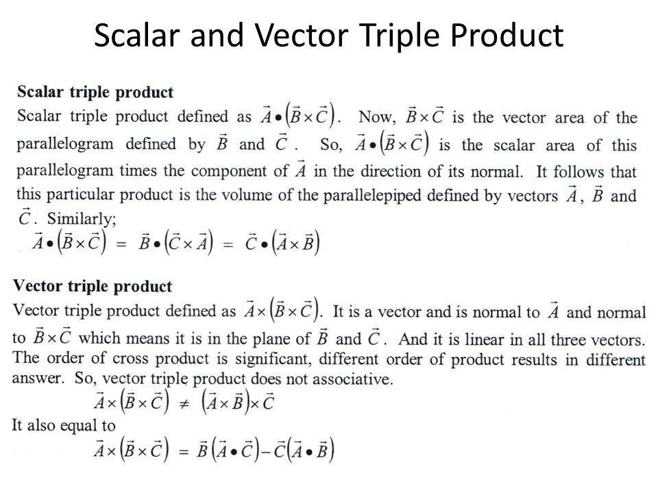 Scalar and Vector Triple Product
