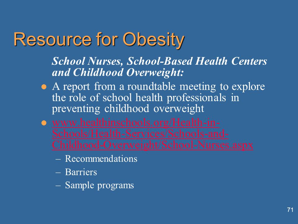 community nursing role in childhood obesity prevention Office of disease prevention and health preventing childhood obesity: lee sm, et al the role of schools in preventing childhood obesity state educ.