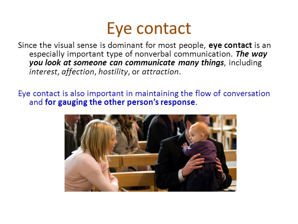 The importance of body language and eye contact essay - Term