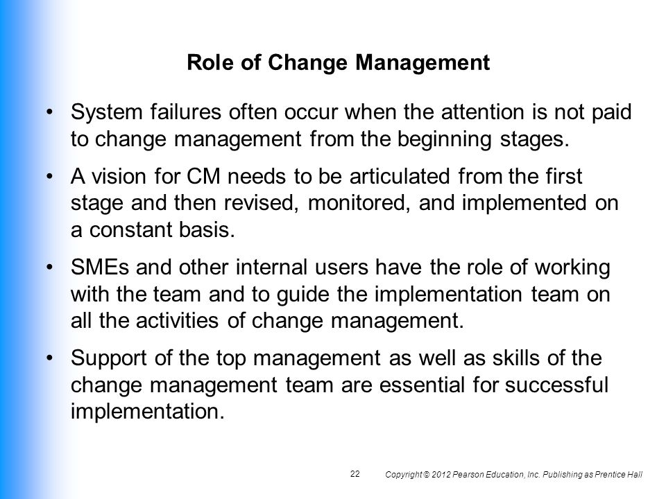 the role of managers in implementing change in the organization What were employees' expected roles in the change process with regard  the  organisation, the purposes of change and change management.