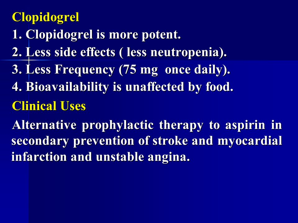 Clopidogrel Side Effects Itching