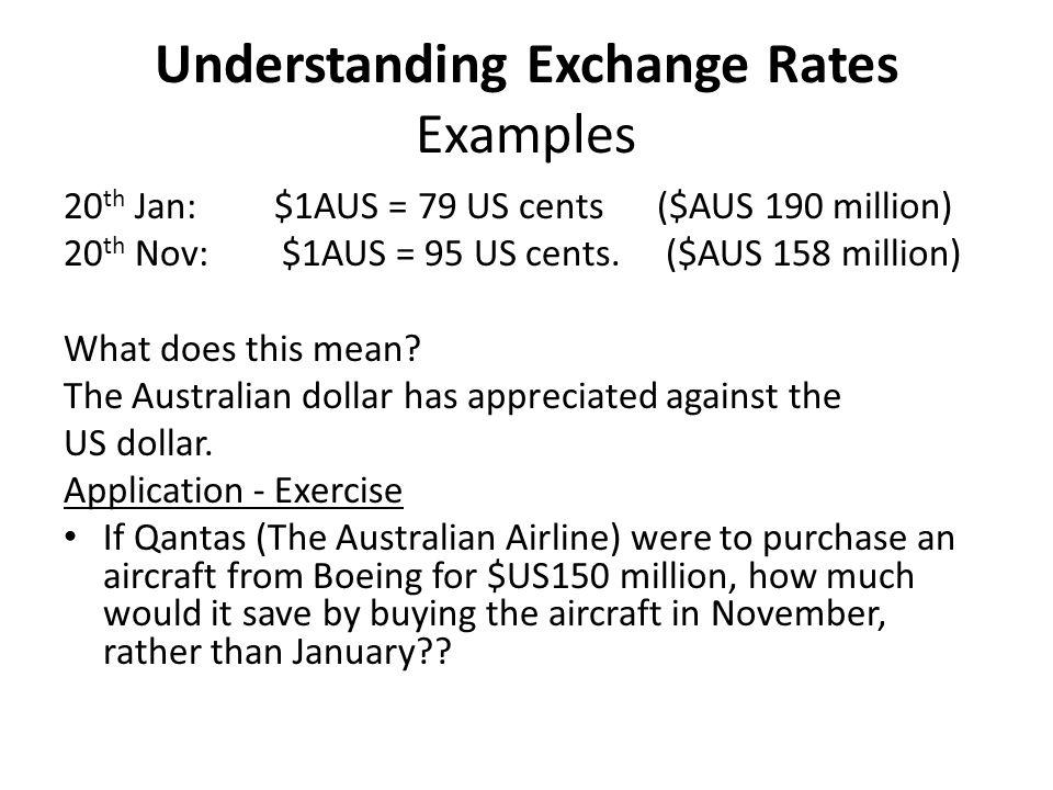 Understanding Exchange Rates Examples