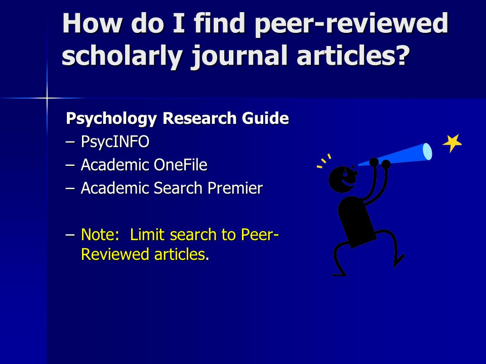 What are Scholarly (Peer Reviewed) publications?