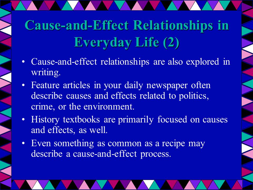 paragraph showing cause and effect relationship in science