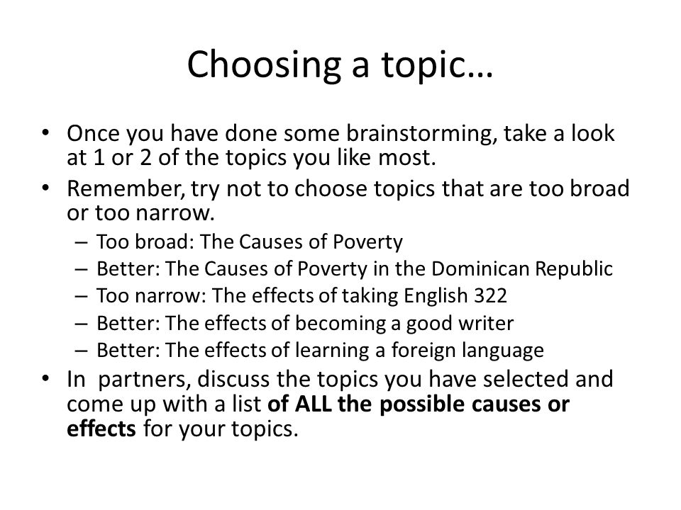 cause and effect essay ppt video online  10 choosing
