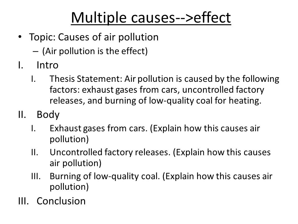 Causes and effects of pollution essay