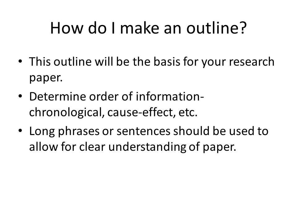 the dreaded research paper ppt video online  how do i make an outline this outline will be the basis for your research paper