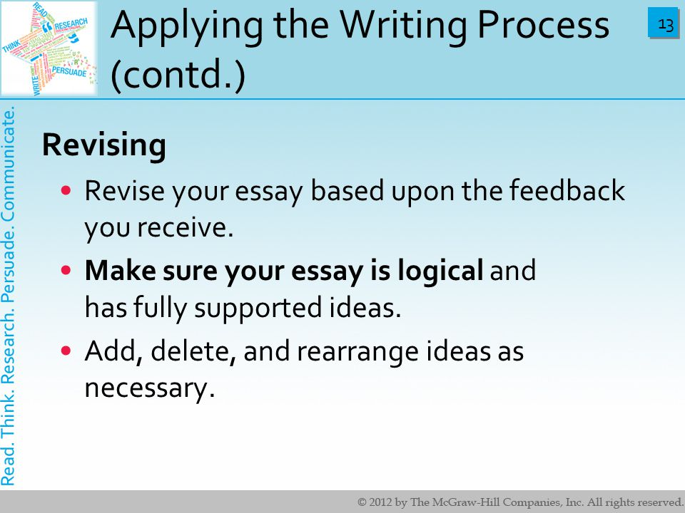 Powerpoint revising your essay