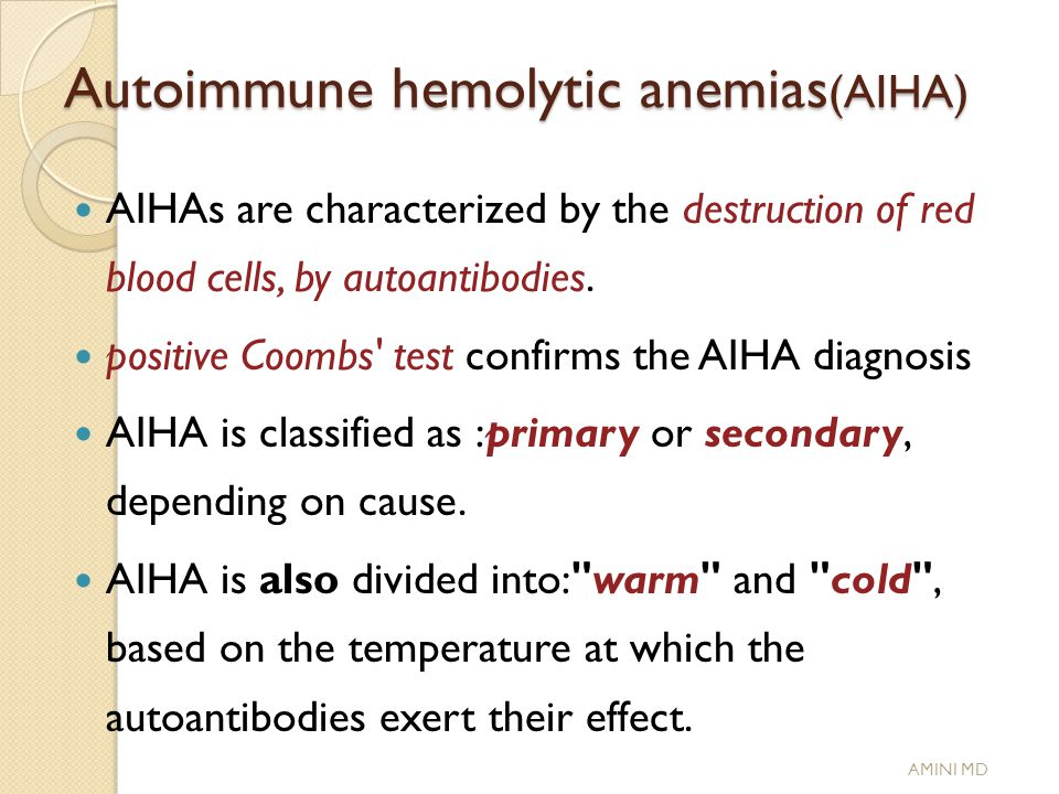 autoimmune hemolytic anemia diagnosis pdf