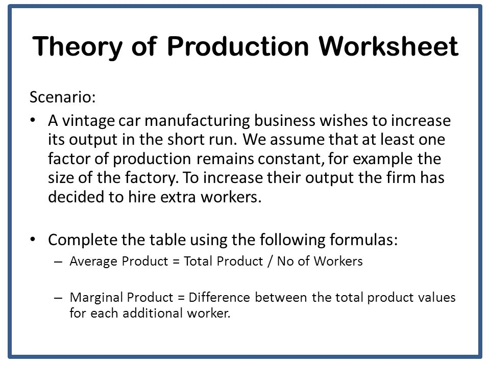 theory of production a2 economics ppt video online download. Black Bedroom Furniture Sets. Home Design Ideas