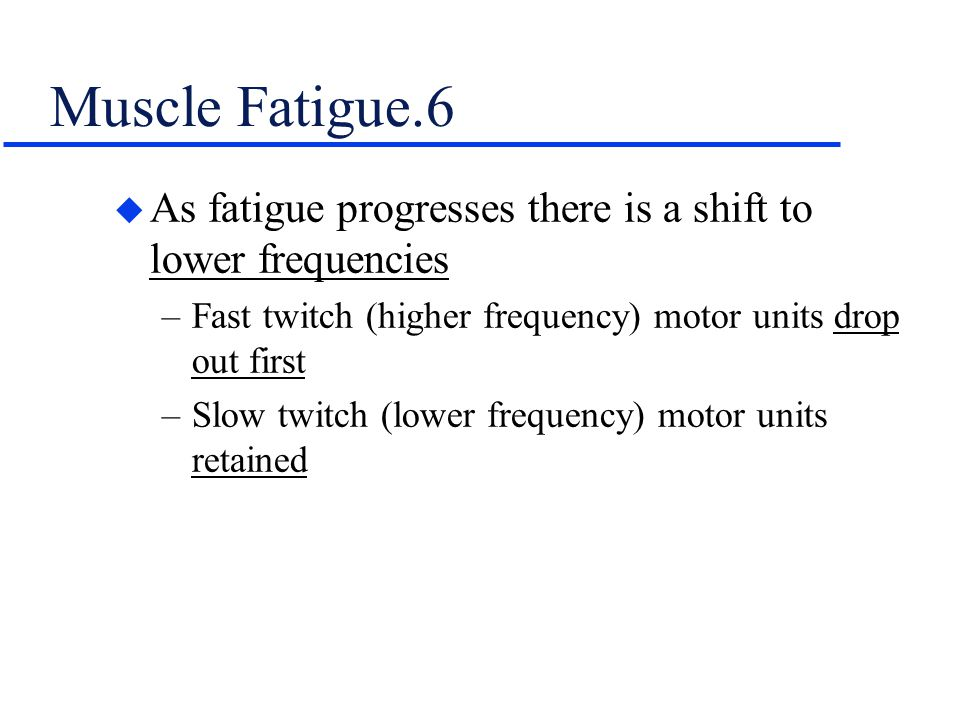 how fast muscle fatigue No pain, no gain 81 science concepts in this lesson, the effects of muscle fatigue on task performance are shown by comparing have fast reactions that they sacrifice test validity demonstrate the proper squeezing of the hand grip.