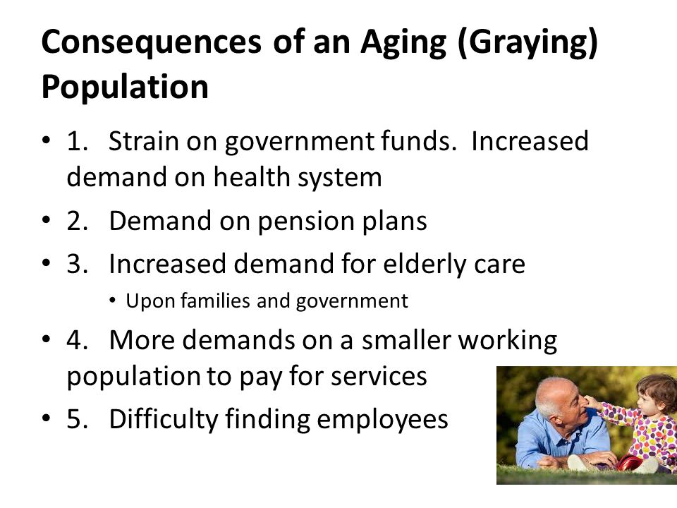 aging population consequences on consumer Aging populations may mean lower economic growth  through both increases in the elderly population  economist ana maria santacreu first discussed the aging of.