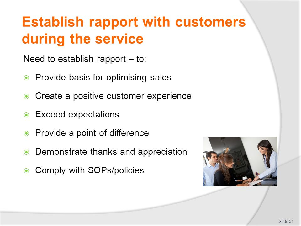 establishing a customer care service system The key to exceptional services lies in building relationships, and in the quality of  relationships, with customers and with employees.