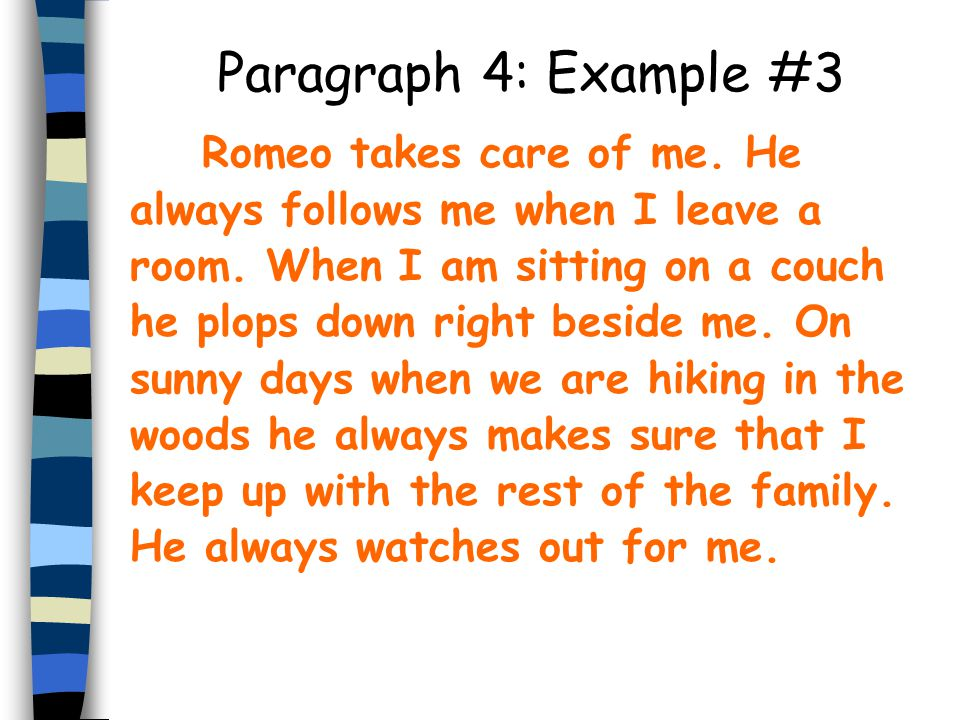 Paragraph 4: Example #3