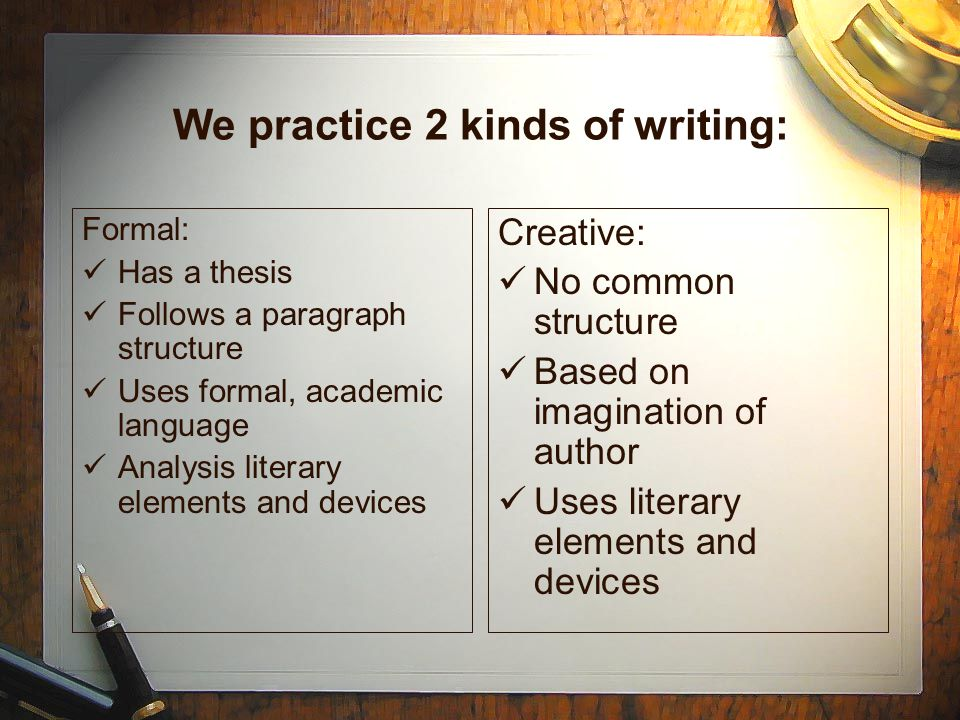Creative Writing Devices