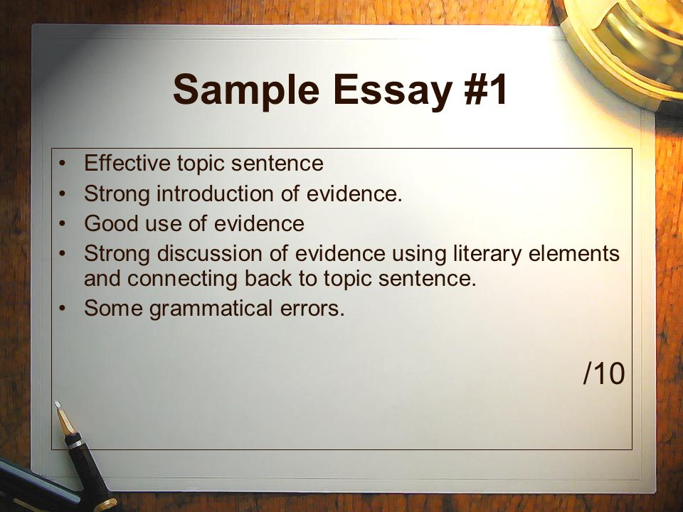writing well structured paragraphs ppt video online  sample essay 1 10 effective topic sentence