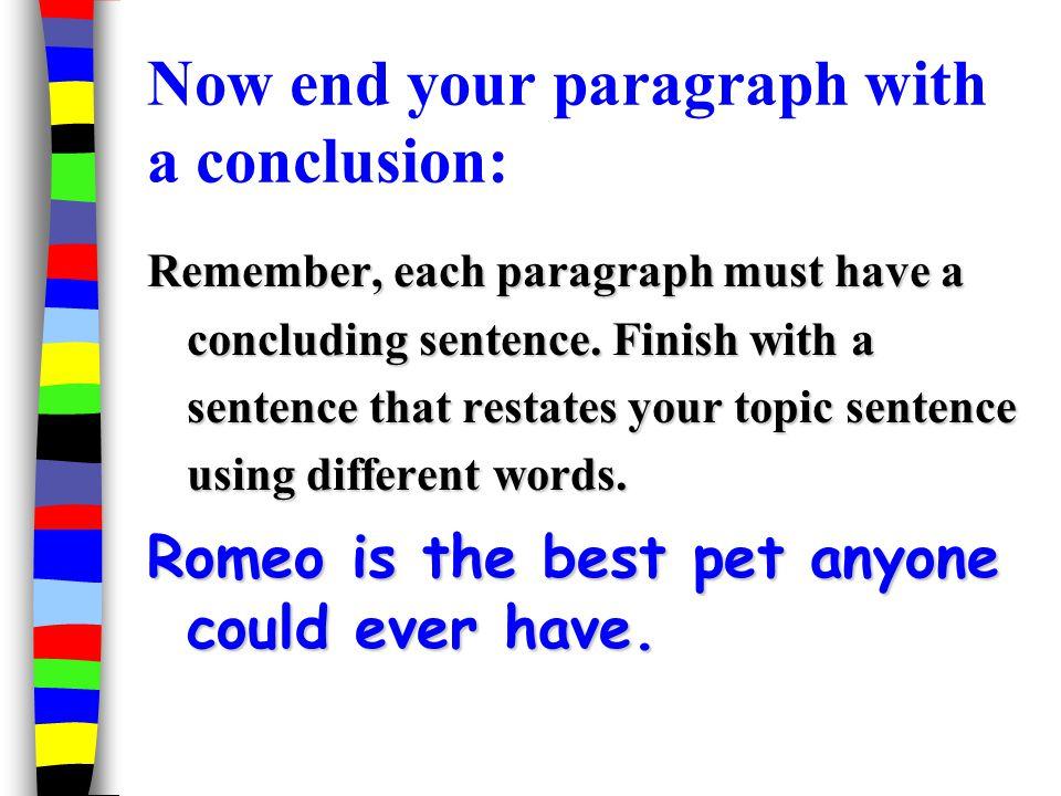 Ju ending words for essays