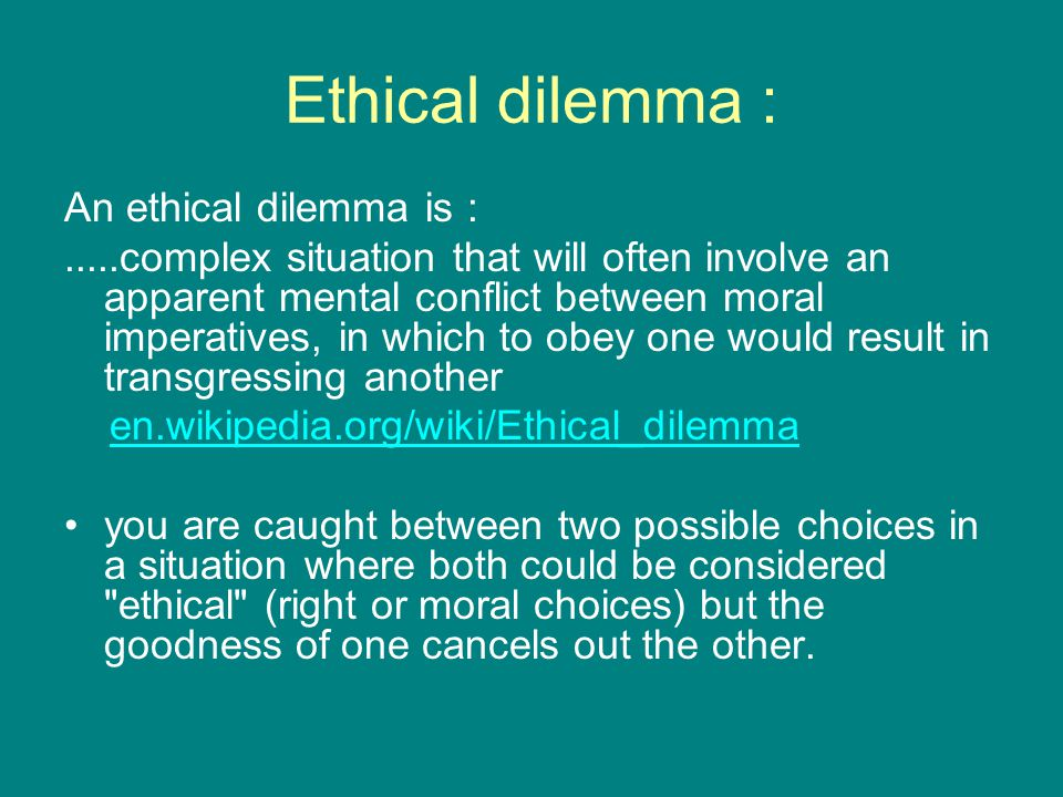 ethical dilemnas This essay will look at how social workers address ethical dilemmas in their work with service users and carers this will be evidenced in case examples.