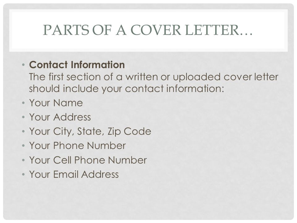 Writing a Cover Letter Tips and Instructions. - ppt video online ...