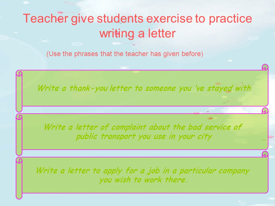 writing a formal letter ppt viewer