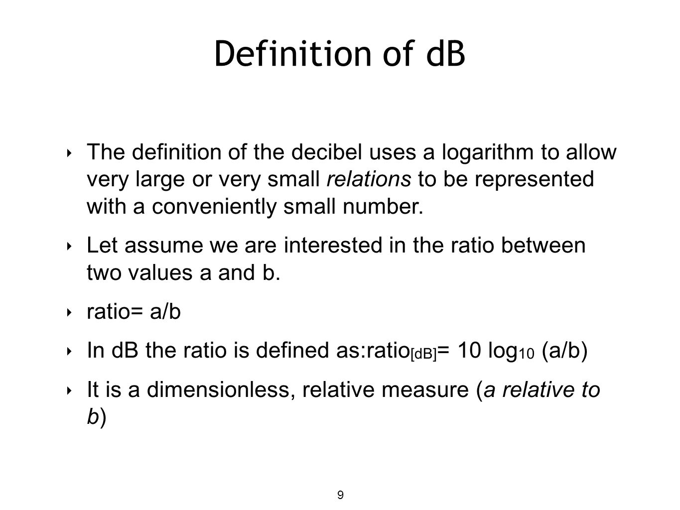 Definition of dB