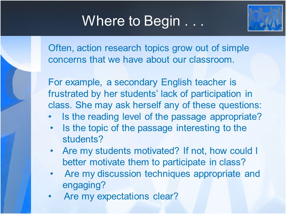identifying and limiting your research topic edu ppt often action research topics grow out of simple concerns