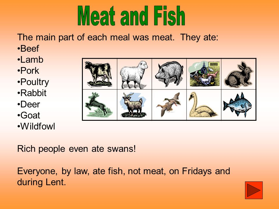 Tudor food most tudor people ate quite well the rich for Fish on fridays during lent
