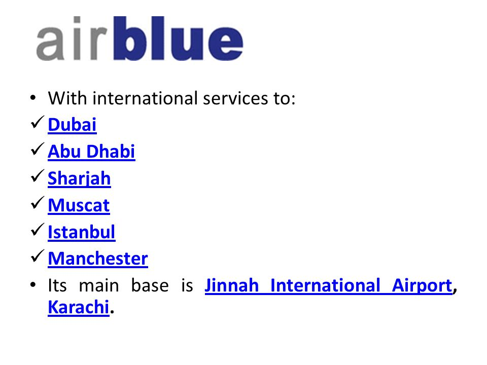 With international services to: