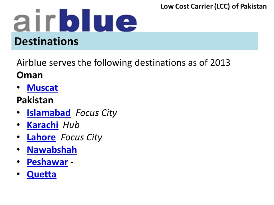 Destinations Oman Pakistan