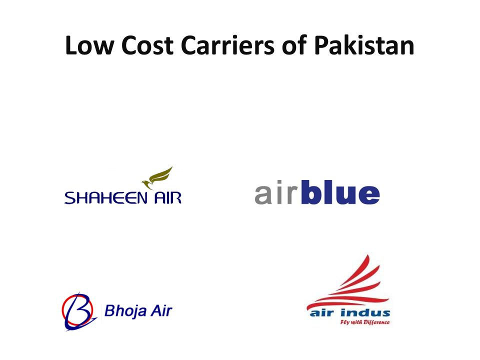 Low Cost Carriers of Pakistan
