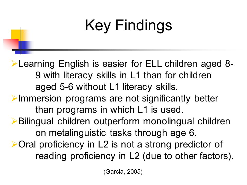 the relationship of cognition education and proficiency between l1 and l2 in bilingual children The home language environment of monolingual and bilingual children ing the relationships between their home language environment and their l1 and children's l1 and l2 skills positive and negative effects of bilingualism.