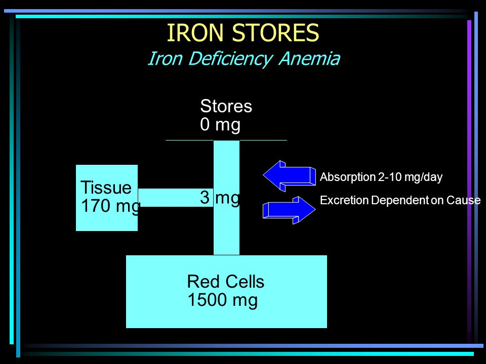 IRON STORES Iron Deficiency Anemia