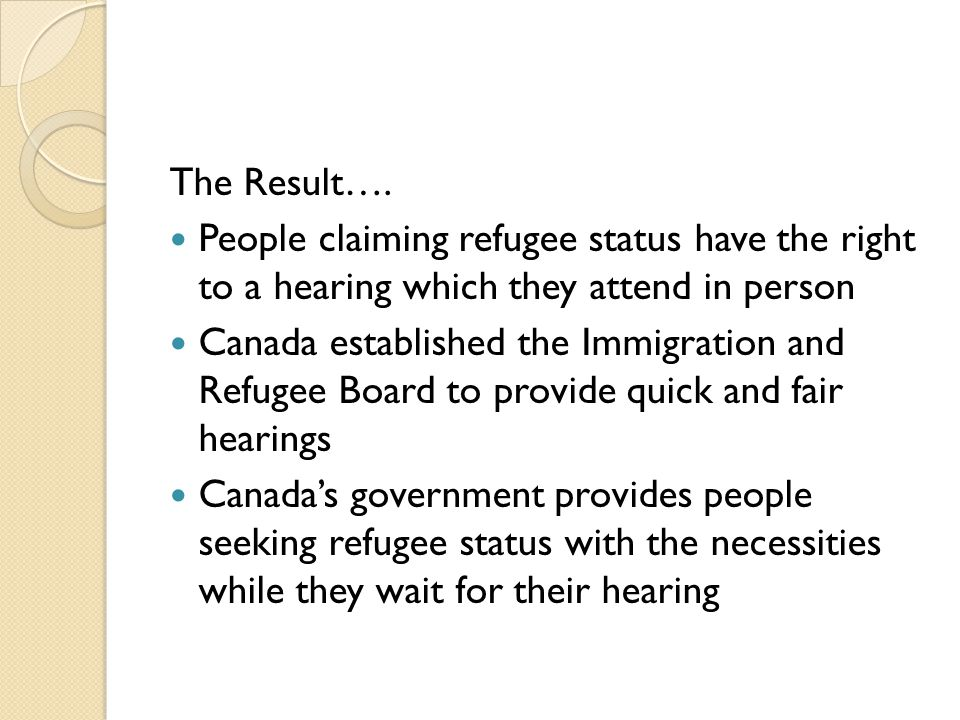 are canadas immigration and refugee laws fair essay This follows the high-level summit on refugees and migrants the day before   executive summary  many europeans feel the americans have been  bystanders to the refugee crisis, failing to take a fair share of refugees and failing  to  imperative for the united states, canada, australia, and countries in.