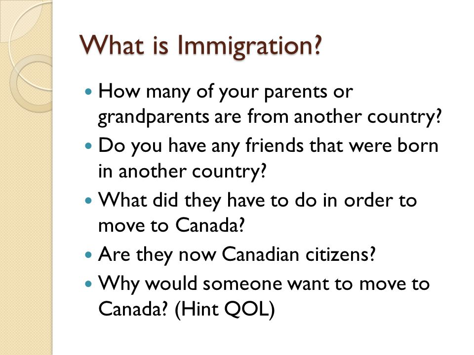 moving to canada essay Lemme know on why i should move or why i shouldn' why should i move to canada i am 20 years old, and i live in texas, united states.