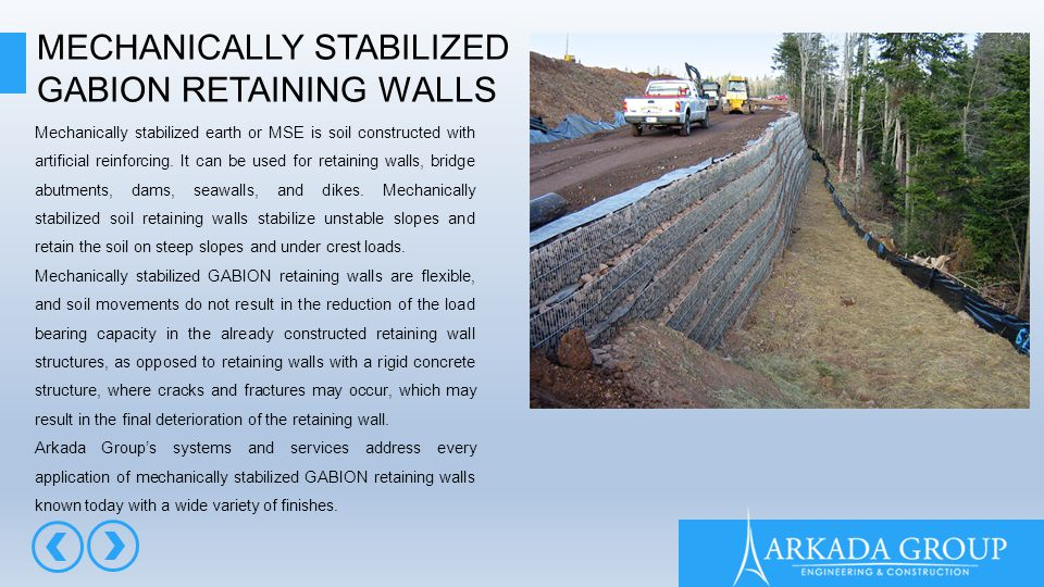Stabilized Earth Retaining Road : Gabion presentation ppt video online download