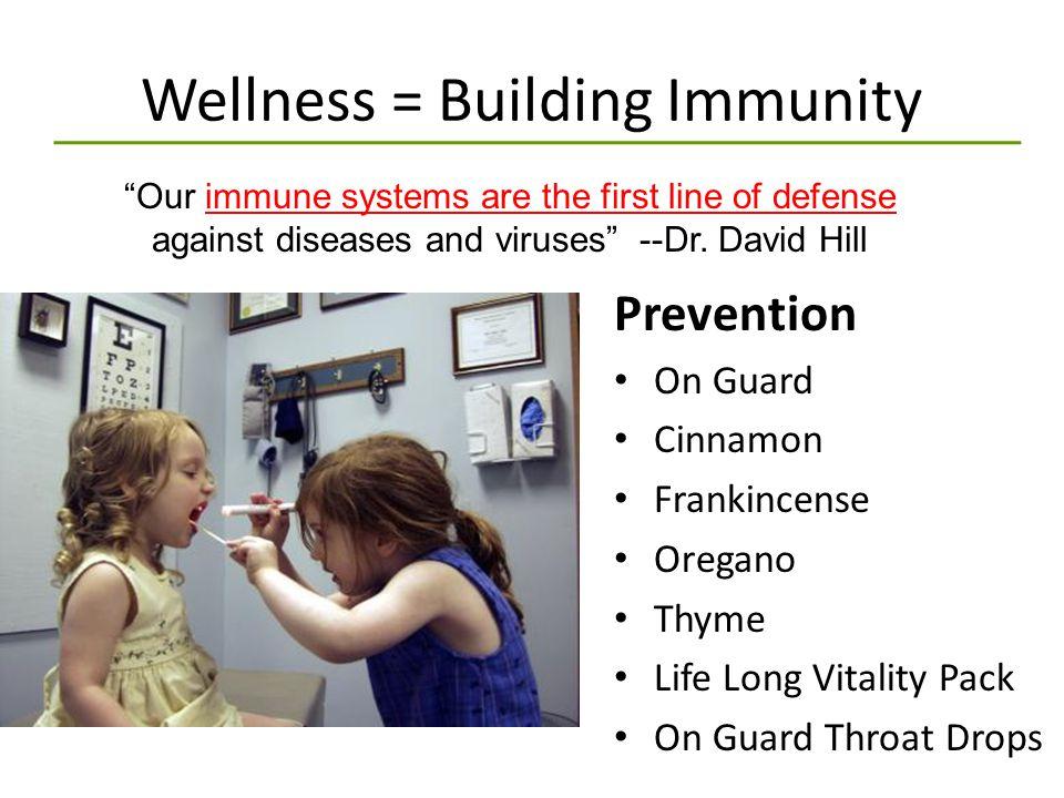 Wellness = Building Immunity