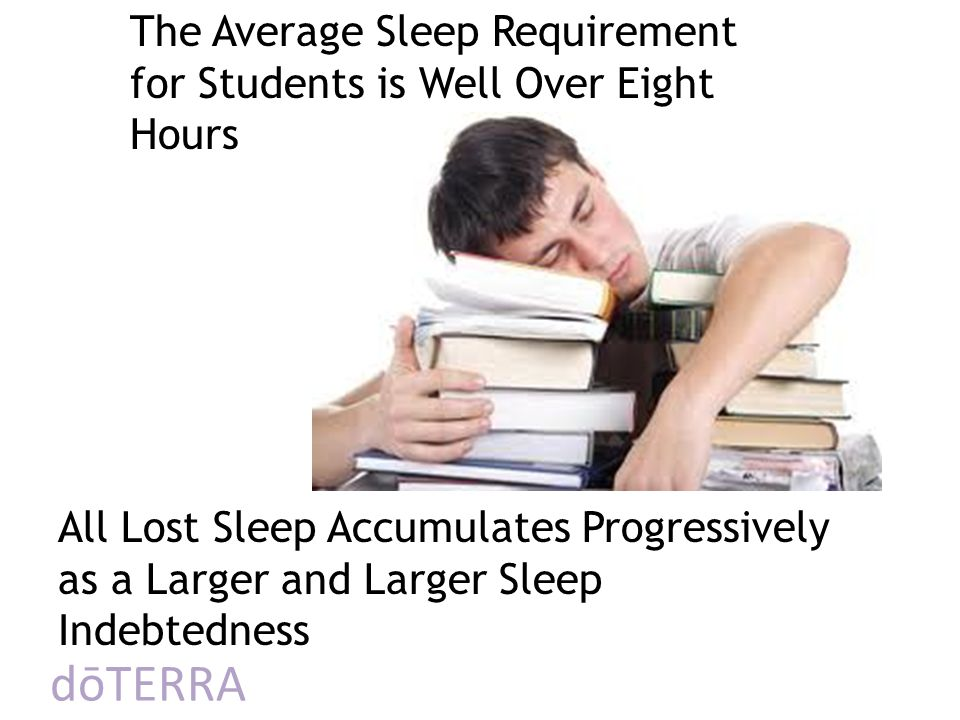 The Average Sleep Requirement for Students is Well Over Eight Hours
