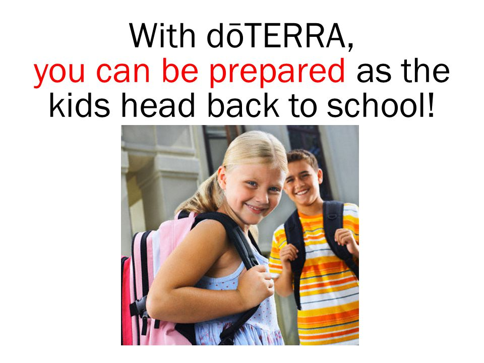 you can be prepared as the kids head back to school!