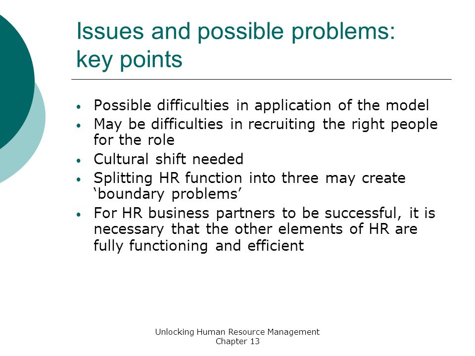 Cultural issues of human resource management